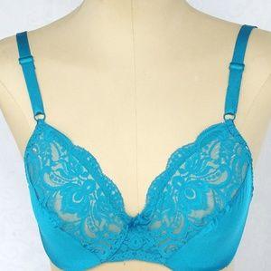 Vintage Olga 34D Blue Bra -20%2+Bundles!!